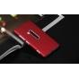 Фирменная задняя панель-крышка-накладка из тончайшего и прочного пластика для Nokia Lumia 920 красная..