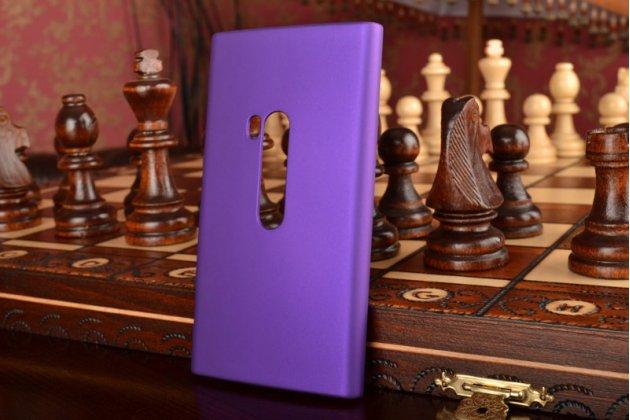 Фирменная задняя панель-крышка-накладка из тончайшего и прочного пластика для Nokia Lumia 920 фиолетовая