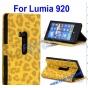Чехол-защитный кожух для Nokia Lumia 920 леопардовый желтый..