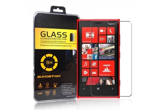 Фирменное защитное закалённое противоударное стекло премиум-класса из качественного японского материала с олеофобным покрытием для Nokia Lumia 920