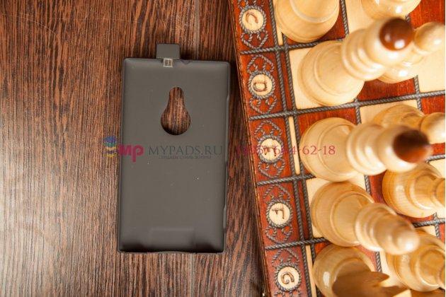 Чехол со встроенной усиленной мощной батарей-аккумулятором большой повышенной расширенной ёмкости 2800mAh для Nokia Lumia 925 черный + гарантия