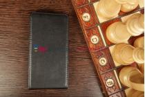Фирменный вертикальный откидной чехол-флип для Nokia Lumia 928 черный кожаный