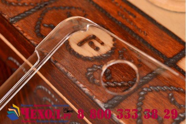 Фирменная ультра-тонкая пластиковая задняя панель-чехол-накладка для Microsoft Lumia 430 прозрачная