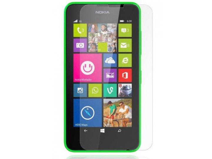 Фирменная оригинальная защитная пленка для телефона Nokia Lumia 530 Dual sim глянцевая..