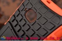 Противоударный усиленный ударопрочный фирменный чехол-бампер-пенал для Nokia Lumia 730 оранжевый