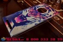 """Фирменная необычная из легчайшего и тончайшего пластика задняя панель-чехол-накладка для Nokia Lumia 830 """"тематика Тигр"""""""