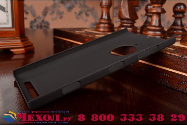Фирменная задняя панель-крышка-накладка из тончайшего и прочного пластика для Nokia Lumia 830 черная