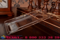 Фирменная задняя панель-крышка-накладка из тончайшего и прочного пластика для Nokia Lumia 830 прозрачная