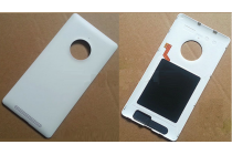 Фирменная родная оригинальная задняя крышка с функцией беспроводной зарядки и логотипом для Nokia Lumia 830 белая