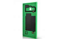 Фирменная родная оригинальная задняя крышка с функцией беспроводной зарядки и логотипом для Nokia Lumia 830 зеленая