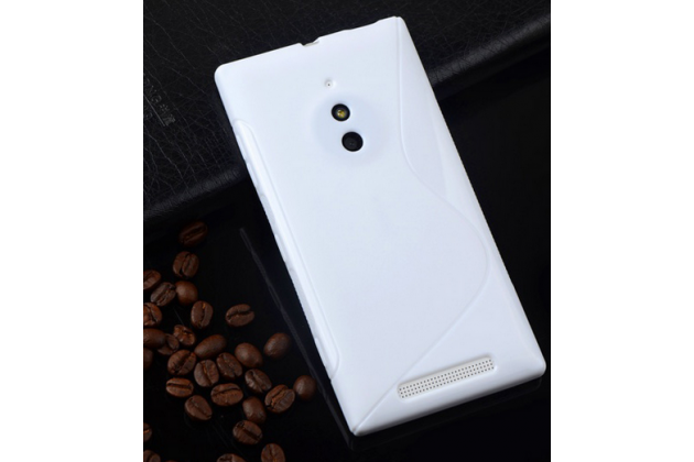 Фирменная ультра-тонкая полимерная из мягкого качественного силикона задняя панель-чехол-накладка для Nokia Lumia 830  белая
