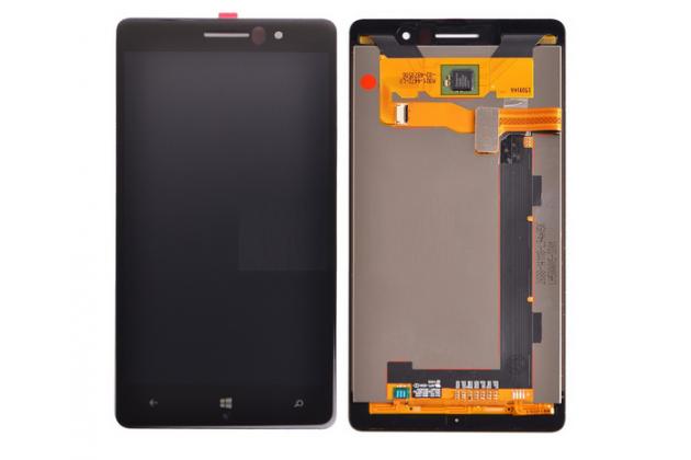 Фирменный LCD-ЖК-сенсорный дисплей-экран-стекло с тачскрином на телефон Nokia Lumia 830 черный + гарантия