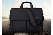 Чехол-сумка-бокс для Xiaomi Mi Notebook Air 12.5 с отделением для дополнительных аксессуаров из высококачественного материала черного цвета