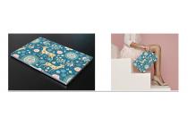 Фирменная оригинальная защитная пленка-наклейка с 3d рисунком на твёрдой основе, ударопрочная, которая не увеличивает ноутбук в размерах для Xiaomi Mi Notebook Air 12.5 тематика Олени в цветах