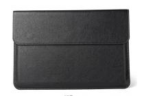Фирменный оригинальный чехол-клатч-сумка для Xiaomi Mi Notebook Air 12.5 из качественной импортной кожи черного цвета