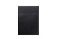 Фирменный чехол-клатч-сумка для Xiaomi Mi Notebook Air 12.5 из качественной импортной кожи черного цвета