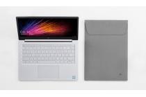 Фирменный чехол-клатч-сумка для Xiaomi Mi Notebook Air 12.5 из качественной импортной кожи серого цвета