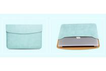 Фирменный оригинальный чехол-клатч + сумка под блок питания для Xiaomi Mi Notebook Air 12.5 из качественной импортной кожи мятного цвета