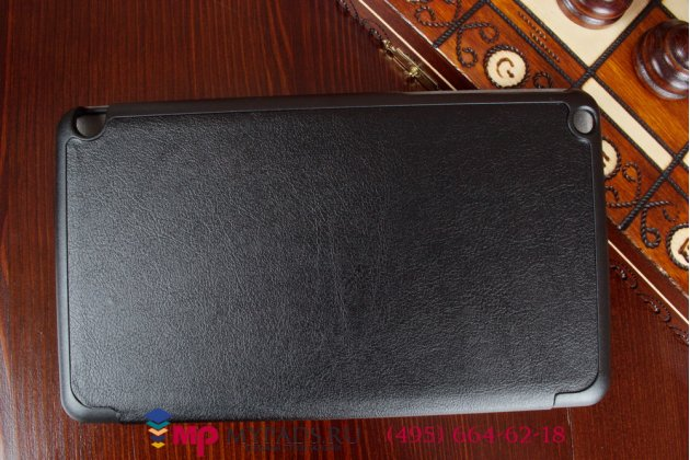 """Фирменный умный чехол-книжка самый тонкий в мире для Nvidia Shield Tablet 16GB WiFi/32GB LTE """"Il Sottile"""" черный пластиковый"""