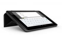Фирменный чехол-обложка Smart cover для Nvidia Shield Tablet 16GB WiFi/32GB LTE черного цвета