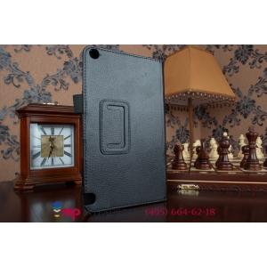 Фирменный оригинальный чехол обложка для Nvidia Shield Tablet 16GB WiFi/32GB LTE черный кожаный