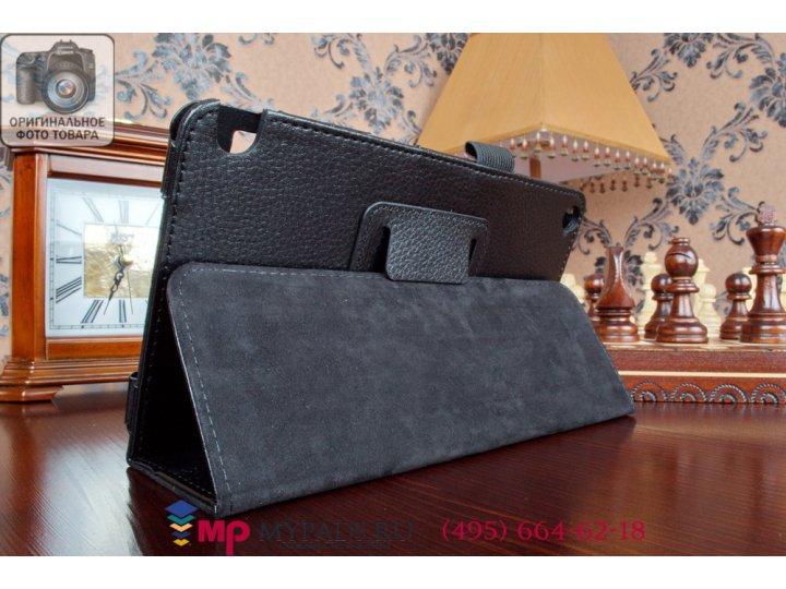 Фирменный оригинальный чехол обложка для Nvidia Shield Tablet 16GB WiFi/32GB LTE черный кожаный..