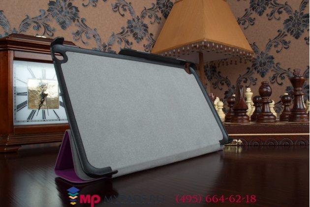 """Фирменный умный чехол-книжка самый тонкий в мире для Nvidia Shield Tablet  """"Il Sottile"""" фиолетовый пластиковый"""