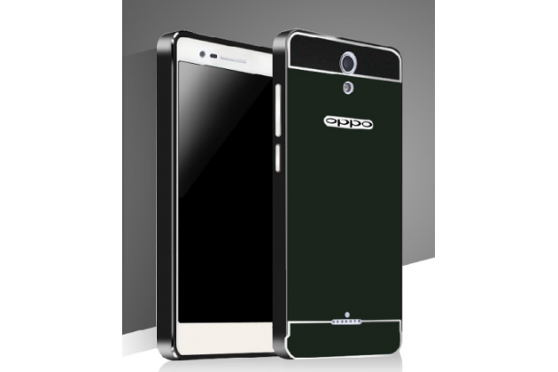 """Фирменная металлическая задняя панель-крышка-накладка из тончайшего облегченного авиационного алюминия для OPPO Mirror 3"""" черная"""