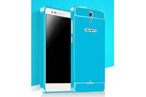 """Фирменная металлическая задняя панель-крышка-накладка из тончайшего облегченного авиационного алюминия для OPPO Mirror 3"""" голубая"""