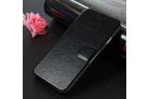 """Фирменный чехол-книжка из качественной импортной кожи с подставкой застёжкой и визитницей для ОППО Миррор 5С"""" черный"""