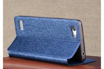 """Фирменный оригинальный водооталкивающий чехол-книжка для Oppo A33"""" синий"""