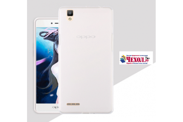 """Фирменная ультра-тонкая силиконовая задняя панель-чехол-накладка для Oppo A53"""" белая"""