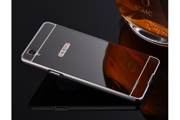 """Фирменная металлическая задняя панель-крышка-накладка из тончайшего облегченного авиационного алюминия для Oppo F1"""" черная"""