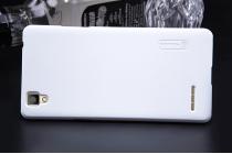 """Фирменная задняя панель-крышка-накладка из тончайшего и прочного пластика для Oppo F1"""" белая"""