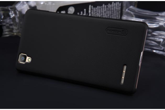"""Фирменная задняя панель-крышка-накладка из тончайшего и прочного пластика для Oppo F1"""" черная"""