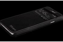 """Фирменный оригинальный чехол-книжка для Oppo Find 9"""" черный с окошком для входящих вызовов водоотталкивающий"""