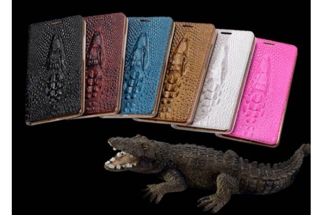 Фирменный роскошный эксклюзивный чехол с объёмным 3D изображением кожи крокодила для OPPO N3. Цвет на выбор. Только в нашем магазине. Количество ограничено