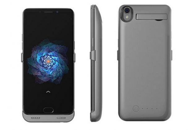 """Чехол-бампер со встроенной усиленной мощной батарей-аккумулятором большой повышенной расширенной ёмкости 6500mAh для Oppo R9+ plus"""" черный + гарантия"""