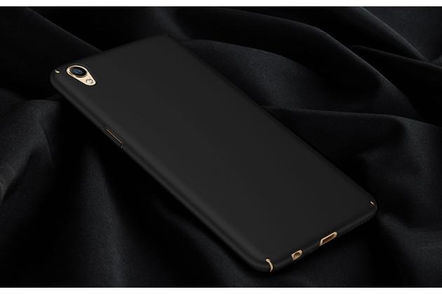Фирменная задняя панель-крышка-накладка из тончайшего и прочного пластика для Oppo R9+ plus черная