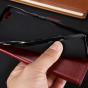 Фирменный чехол-книжка для  Оппо Р9 плюс с визитницей и мультиподставкой коричневый кожаный