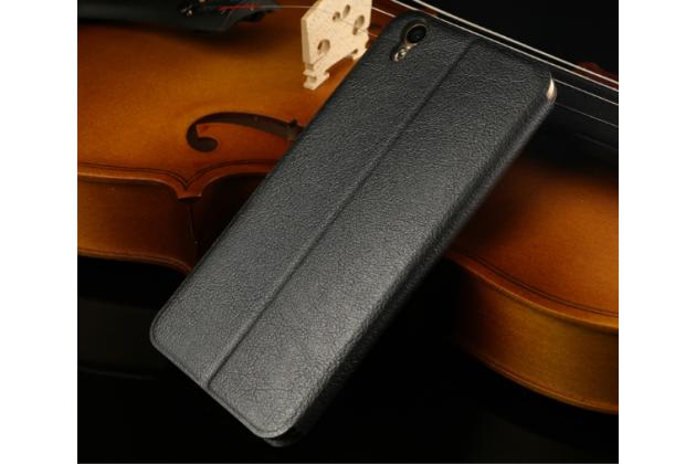 """Фирменный чехол-книжка водоотталкивающий с мульти-подставкой на жёсткой металлической основе для Oppo R9+ plus"""" черный"""