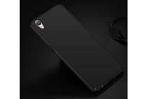 Фирменная задняя панель-крышка-накладка из тончайшего и прочного пластика для Oppo R9 черная