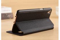 """Фирменный чехол-книжка для Oppo R9"""" черный с окошком для входящих вызовов и свайпом водоотталкивающий"""
