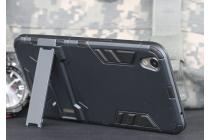 """Противоударный усиленный ударопрочный фирменный чехол-бампер-пенал для Oppo R9"""" черный"""
