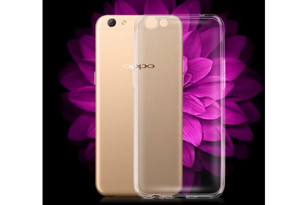 Фирменная ультра-тонкая полимерная из мягкого качественного силикона задняя панель-чехол-накладка для Oppo R9S Plus прозрачная