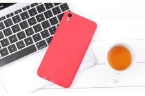 Фирменная ультра-тонкая полимерная из мягкого качественного силикона задняя панель-чехол-накладка для Oppo R9S Plus красная