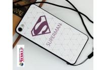 Фирменная роскошная задняя панель-чехол-накладка  из мягкого силикона с безумно красивым расписным 3D рисунком на Oppo R9S Plus тематика Superman
