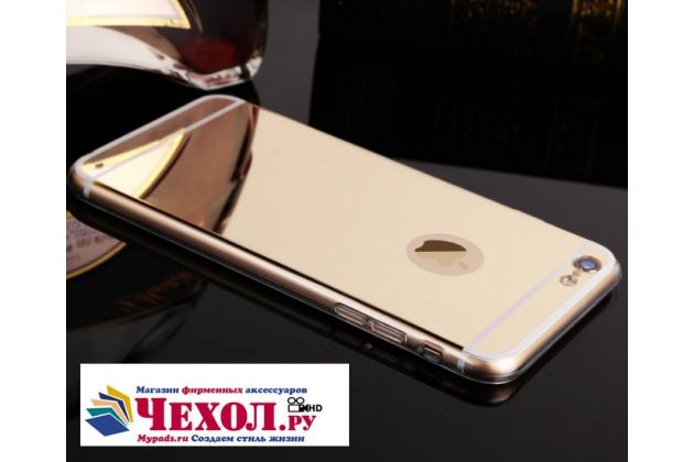 Фирменная ультра-тонкая полимерная из мягкого качественного силикона задняя панель-чехол-накладка для Oppo R9S золотая