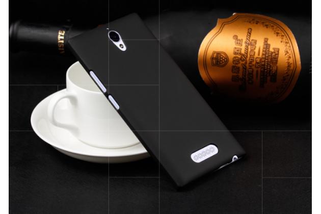 Фирменная задняя панель-крышка-накладка из тончайшего и прочного пластика для Oppo U3 черная