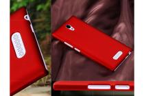Фирменная задняя панель-крышка-накладка из тончайшего и прочного пластика для Oppo U3 красная